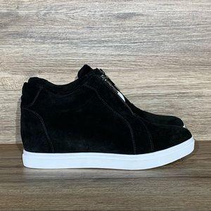 Blondo Glenda Waterproof Black Suede Wedge Sneaker Sz- 8.5